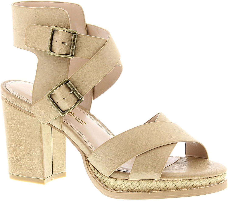Sbicca Womens Melita Open Toe Crisscross Dress Sandals