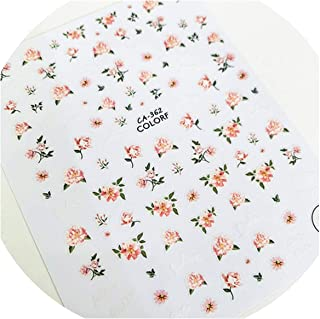 Newest Beautiful Flower Paint 3D Nail Art Sticker Nail Decal Stamping Export Japan Designs Rhinestones Decorations,Ca-362
