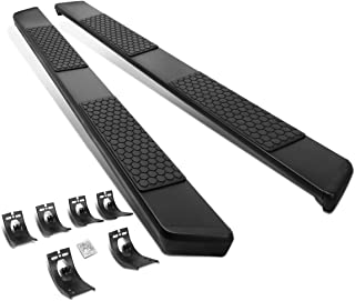 DNA MOTORING STEPB-ZTL-8076-SSBK Powdercoated Stainless Steel 5 Inches Step Bar Running Boards for 11-18 Ram Crew Cab, Black
