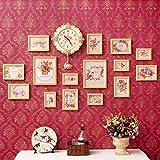 Marcos De Fotos Marco de la foto, imagen marcos Conjunto sólido marco de madera Colección de fotografías Multi grande de fotos de imágenes marcos de la pared Set 15 piezas Set, Marco Creatividad Blanc