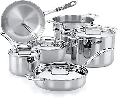 Amazon.com: KitchenAid kc2ts10st 10 piezas Tri-Ply ...
