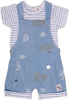 BABY-BOL - Conjunto 2 Piezas bebé con Peto y Camiseta bebé-niños
