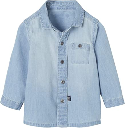 VERTBAUDET Camisa Vaquera para bebé niño