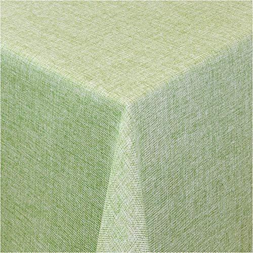 TEXMAXX®Premium Gartentischdecke Tischdecke Garten eckig Maßanfertigung - 140 x 100 cm in Grün - Tischdecken im Leinen Design - Lotuseffekt mit Fleckschutz