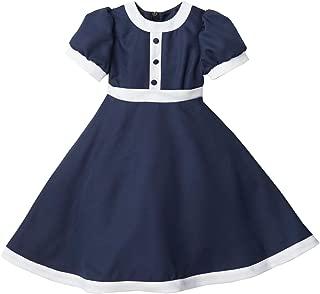 (キャサリンコテージ)Catherine Cottage 子供ドレス 花紺のレトロワンピース CC0054