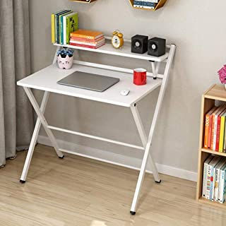 High quality Tables Furniture Folding Laptops Computer Desk Home Office Desktop, Steel Frame Multifunctional (Color : B4)