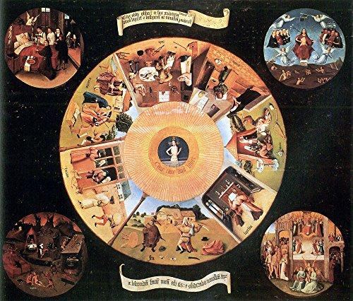 The Museum Outlet – Table avec les scènes of the Seven Deadly Sins par Bosch – A3 Poster