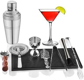 Bartending Making Kit,9-Piece Shaker Bar Set 510ml Mixer Professional Stainless Steel Tool Bartending Drink Mixing Experie...