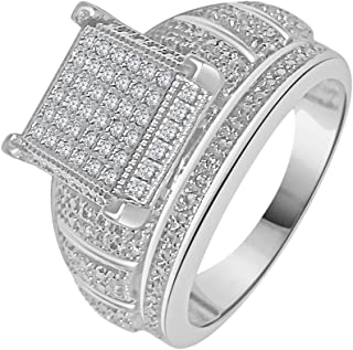 0.16CT Round Cut Diamond 925 Sterling Silver Women's Engagement Ring In 14K White Gold Finish