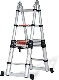 SUNCOO Multi-Position Ladders, 2.8-16.5Ft. Extension Ladder, Lightweight Aluminum Telescoping Ladders, Easy Retraction Ant...