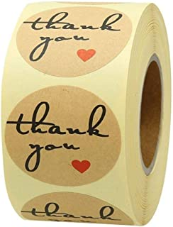 SOLDOUT™ 500 PCS THANK YOU Craft Paper Stickers Round Adhesive Labels Baking Wedding Decoration Party Decoration Stickers...