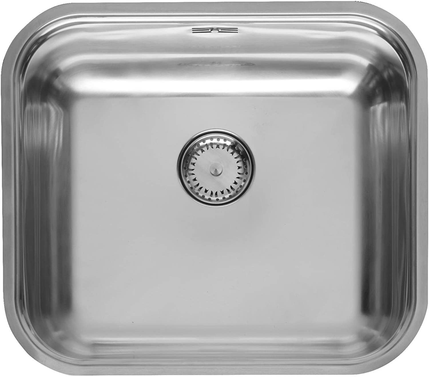 44.5cm x 39.3cm Integrated Single Bowl Sink in Stainless Steel