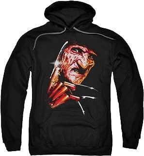 Nightmare On Elm Street Freddys Face Adult Pull Over Hoodie Black