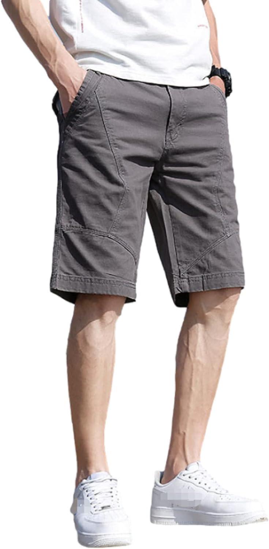 Katenyl Men's Personality Stitching Shorts Fashion Outdoor Loose Thin Comfortable