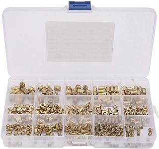 Isolation Column, M2 M3 M5 15 Types Brass Insert Nut, Isolation Column Knurl with Box Brass Insert Nut Maintenance Fields ...
