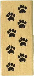 Inkadinkado Cat Paw Print Wood Stamp for Arts and Crafts, 1.25'' W x 2.75'' L