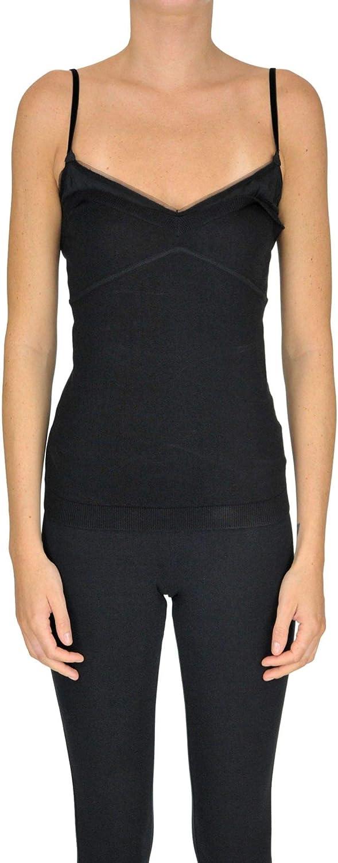 N°21 Women's MCGLTPT000005011E Black Polyamide Tank Top