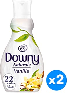 Downy Naturals Concentrate Fabric Softener Vanilla Scent, 880ML, Piece of 2