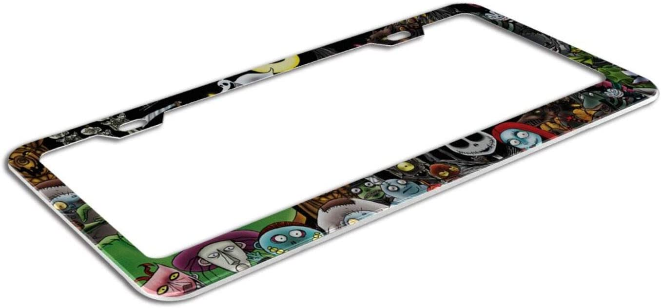 The Nightmare Before Christmas Auto License Plate Frames Cover Car Tag Frame Holder US Standard Plates 2pcs