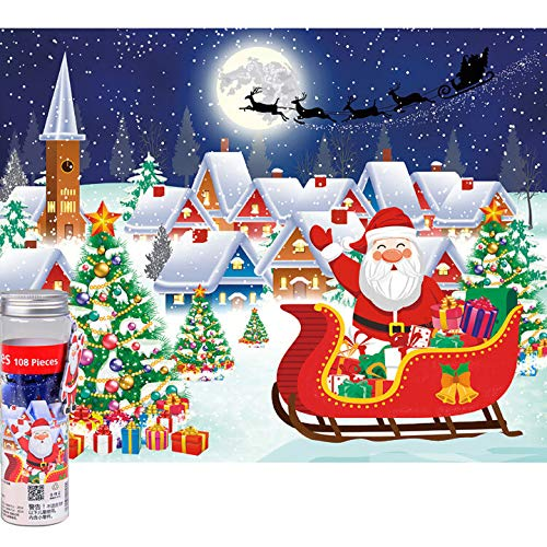 Ingooood - 108 Pieces Christmas Puzzle - Santa's Coming - Entertainment Puzzles Toys for Kids (Santa's Coming)