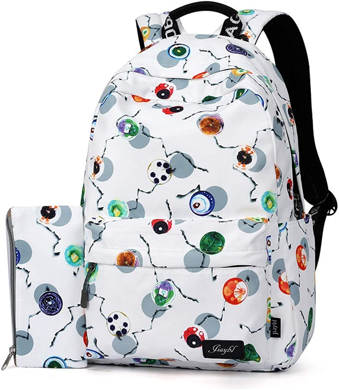 Backpack Female Shoulder Bag Casual Korean Version of The Tide College Wind high School College Students Bag Water Repellent Large Capacity