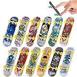 Finger Skateboards, 5PCS Mini Diapasón Patineta de Dedos Monopatines de Juguete para Dedos para Niños Juguete Regalo de Cumpleaños Favores de Fiesta (Patrón Al Azar)