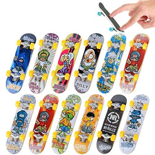 Yapda Mini Fingerboard, 5PCS Finger Skateboard Doigt Planche À roulettes Finger Skate Park Jouet pour Enfants Anniversaires Cadeau de Noël (Motif Aléatoire)