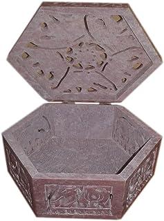 """صندوق مجوهرات مصمم ، صندوق مرصع ، صندوق من حجر الرخام المزخرف 4\"""" X 4\"""" بوصة"""