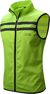 bpbtti Men's Hi-Viz Safety Running Cycling Vest - Windproof and Reflective