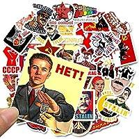 50ピース混合ソビエト連邦スターリンUSSR CCCP HETステッカー防水PVCスケートボード電話オートバイ荷物ラップトップギターステッカー