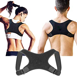 Back Posture Corrector, leegoal Invisible Adjustable Physical Therapy Posture Brace Support for Men or Women - Fix Upper B...