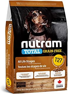 Nutram T27 Total Grain-Free Small Breed Chicken & Turkey Dog Food, 5.4kg