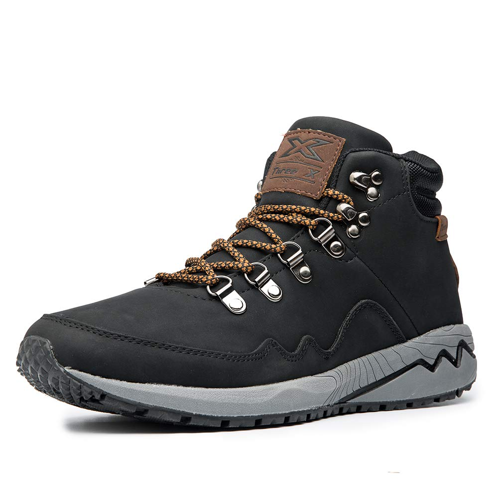Three Boots Construction Leather Outdoor