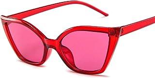 Sunglasses Fashion Accessories Vintage Retro Cat Eye Sunglasses for Women Small Designer Shades Glasses9007 (Color : White)
