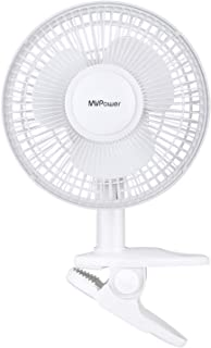 MVPower Ventilador de Mesa Mini Silencioso Portátil para Escritorio Ángulo de Inclinación Ajustable (Blanco)