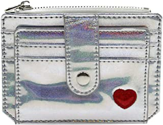 Women Girls Holographic Glitter Credit Card Holder Slim Card Case Wallet