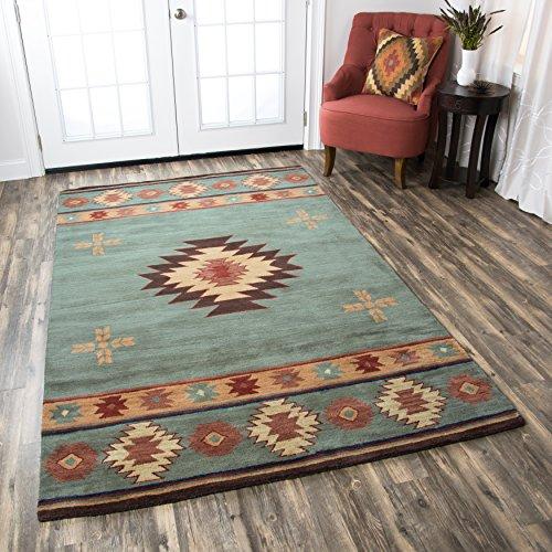 Hot Sale Rizzy Home SU2008 Southwest 8-Feet by 10-Feet Area Rug, Green
