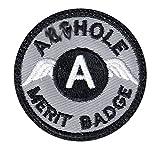 A-hole Merit Badge...image