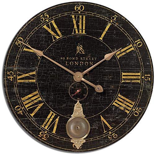 Uttermost Bond Street 30' Black Wall Clock