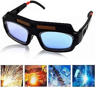 Solar Powered Auto Darkening Welding Goggle Safety Protective Welding Glasses Mask Helmet, Eyes Goggles Mask Anti-Flog Anti-glare Goggles (2)