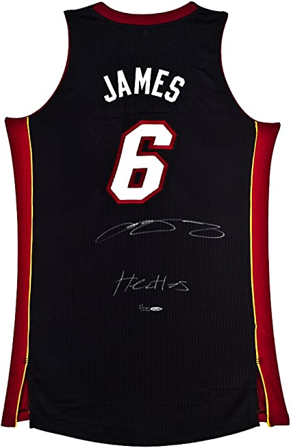 LeBron James Signed & Inscribed Miami Heat Authentic Away Jersey ...