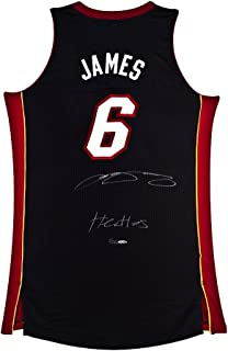 LeBron James Signed & Inscribed Miami Heat Authentic Away Jersey, UDA - Limited to 25