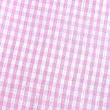 0,5m Vichy-Karo groß 5mm Stoff rosa/weiß Meterware 100%