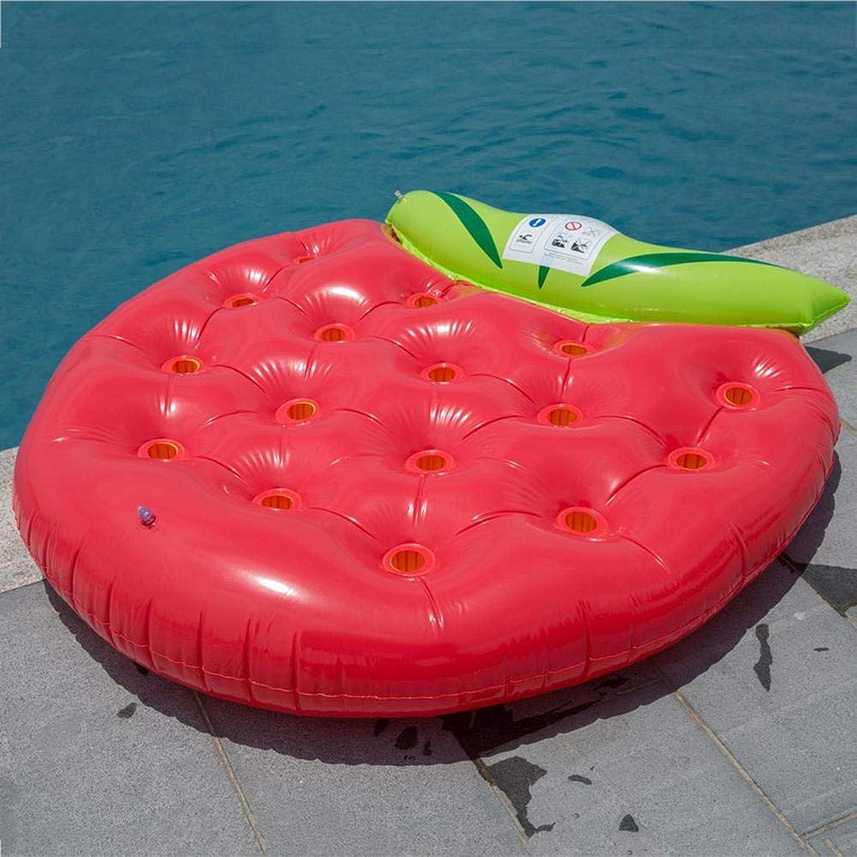 Neue Erdbeere Schwimmende Reihe Aufblasbare Spielzeuge, Erwachsene Luftkissen Liege Schwimmende Bett Schwimmhilfen,schwimmsitz - 156  148cm