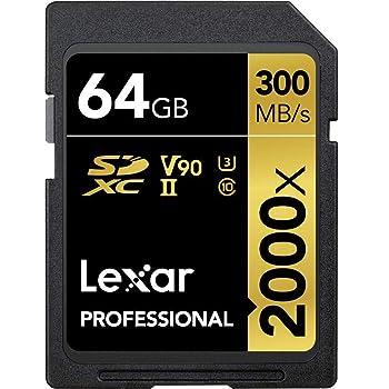 Lexar Professional 2000x 64GB SDXC UHS-II Card (LSD64GCBNA2000R)