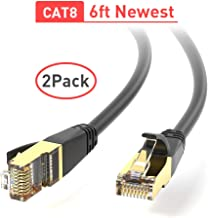 CAT 8 Ethernet Cable 40Gbps 2000Mhz Modem Xbox Compatible with Cat7//Cat5//Cat5e//Cat6//Cat10e PS Internet Network Cord,High Speed SSTP LAN Cables with Gold Plated RJ45 Connector for Router 20 feet