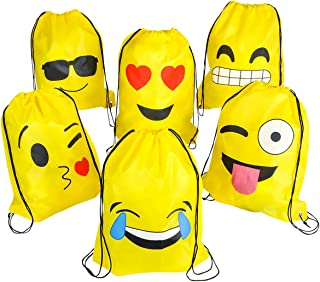 Emoji Bolsas de Cuerdas BESTZY 6PCS Mochilas Petate