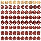 80 Pezzi 125 Mm Dischi Abrasivi, Carta Vetrata In Pasta, Per Carta Vetrata Legno Levigatrice Eccentrica Gialla Rossa