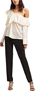 DKNY Women's Long-Sleeve Ruffle Top