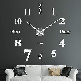 SOLEDI Reloj de Pared 3D DIY Reloj de Etiqueta de Pared Decoración Ideal para la Casa Oficina Hotel